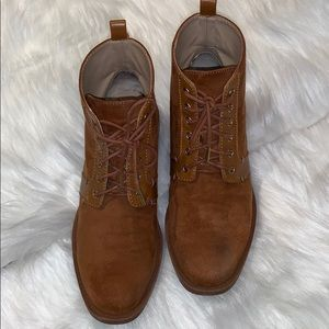 Zara Trafaluc suede lace up booties #37